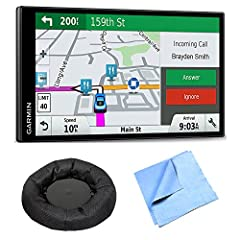 Bundle Includes Garmin DriveSmart 61 NA LMT-S GPS Portable Friction Mount Microfiber Cloth Advanced Navigation with Smart Features Easy-to-use GPS navigator with connected features and bright 6.95-inch capacitive touch edge-to-edge display De...