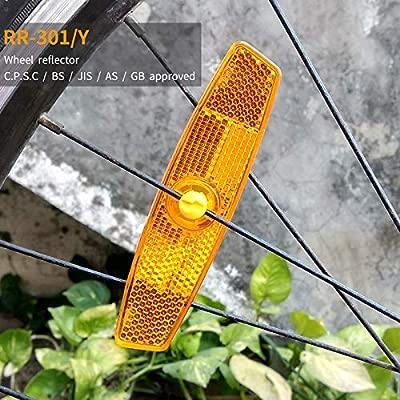 2pcs para Bicicleta de montaña bicicleta habló Reflector Lámpara ...