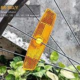 Cheap BSK Amber Bicycle Wheel Spoke Night Safety Warning Reflectors, 2 Sets-Amber