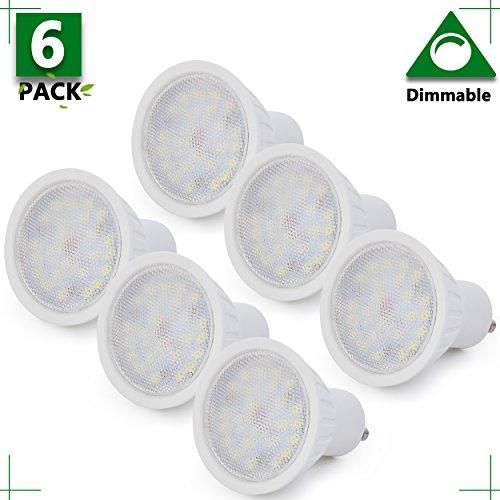 Spotlight Indoor Lighting GU10 Dimmable LED Bulb 25W Equivalent GU10 LED Light, 3 Watts MR16 Spotlight 5000K Daylight White 120V Track Light Recessed Light Flood Light 300Lm(Pack Of 6)