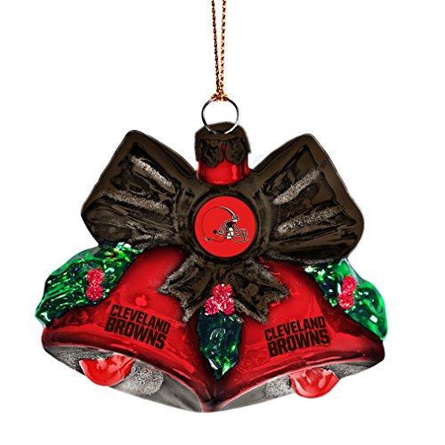 NFL Cleveland Browns Glitter Bells