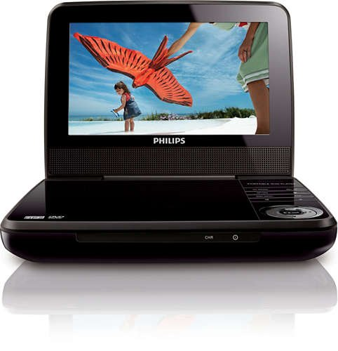 "Philips 7"" Portable DVD Player PET741B (Renewed)"