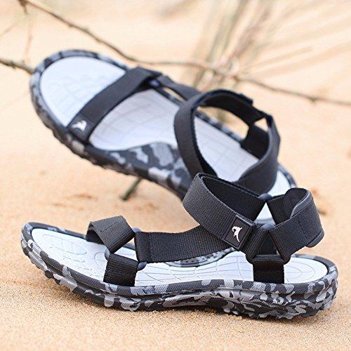 Il nuovo Camuffare Uomini sandali estate Tempo libero Spiaggia scarpa sandali traspirante Uomini scarpa tendenza ,grigio,US=8.5,UK=8,EU=42,CN=43