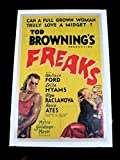 #9: FREAKS 1932 TOD BROWNING 27 x 41 ONE SHEET CLASSIC HORROR EXTREMELY RARE!!