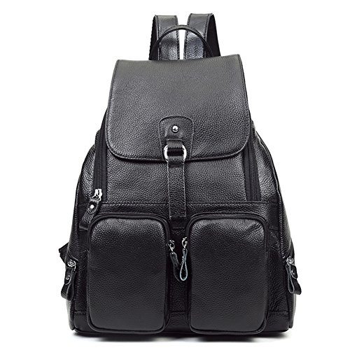 Black Purse Women Leather BG120 Large Brown Ladies Rucksack Backpack DRF Handbags AqFw6avx