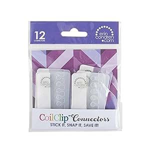 """Erin Condren 2"""" Coil Clip Connectors, Clear (ACC-COIL)"""