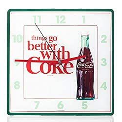 Mark Feldstein Coca Cola Bottle Square Wall Clock - 11.81 Inch