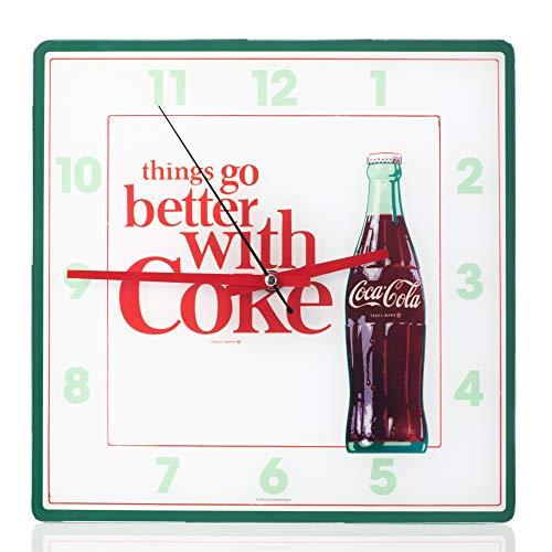 Mark Feldstein Coca Cola Bottle Square Wall Clock - 11.81 Inch Coca Cola Wall Clock