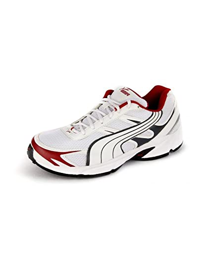 Puma Men s White And Red Carlos Synthetic Mesh Sport Shoes 6 UK India (39 45793b13a