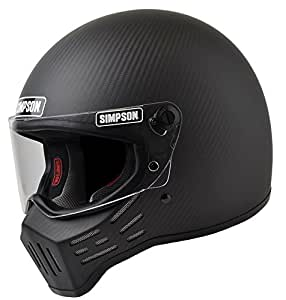 Simpson M30 Bandit DOT Satin Carbon Fiber Motorcycle Helmet-Medium