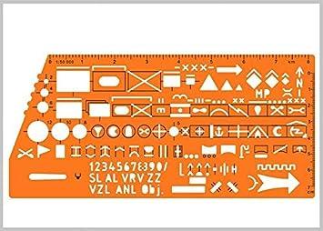 Plantilla de gráfico estándar con símbolos de marcado militar para dibujo y dibujo del ejército de la OTAN en mapa táctico #8353: Amazon.es: Bricolaje y herramientas