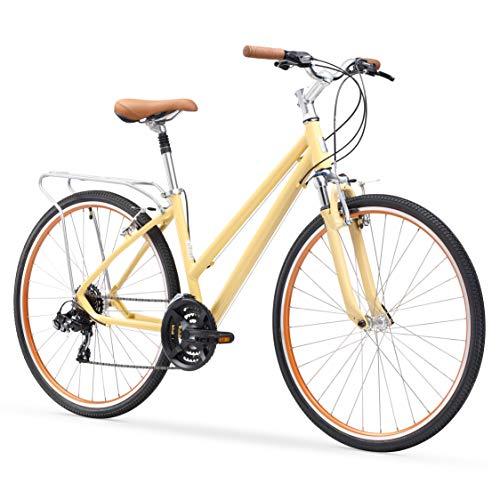 sixthreezero Pave N' Trail Women's Hybrid Road Bicycle w/Rear Rack, 26