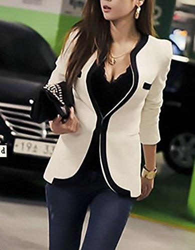 Lunga Ufficio Donne Donna Tailleur Classiche Fit Bianca Primaverile Unique Alla Slim Casual Fashion Manica Blazer Cappotto Da Giacca Eleganti Corto Business Moda Autunno Aqfwq7