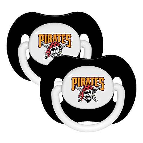 MLB Pittsburgh Pirates Pacifiers, 2-Pack (Baby Pirate Pacifier)