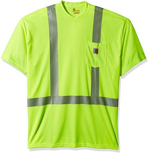 Carhartt Men's Big-Tall Force High Visibility Short Sleeve Class 2 T-Shirt, Brite Lime, 2X-Large (Best Class T Shirts)