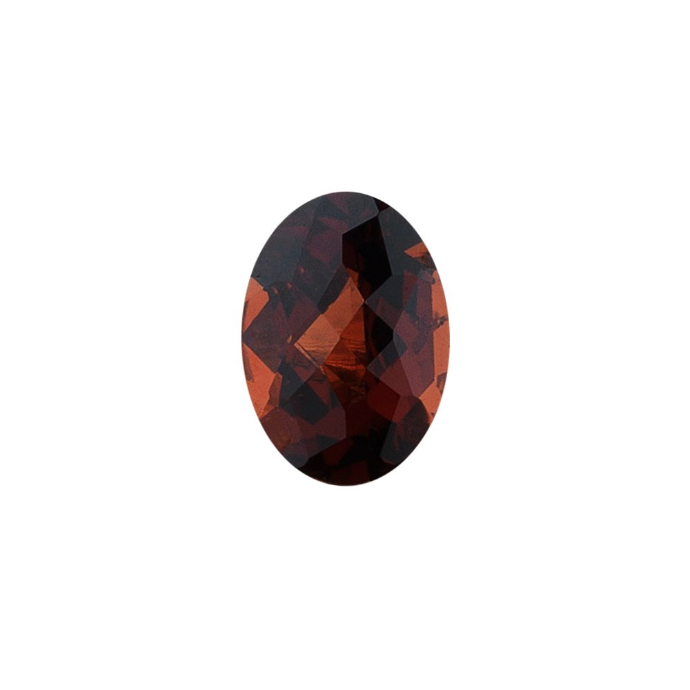 Mysticdrop 3.95-4.70 Cts of 11x9 mm AAA Oval Checker Board Mozambique Garnet (1 pc) Loose Gemstone