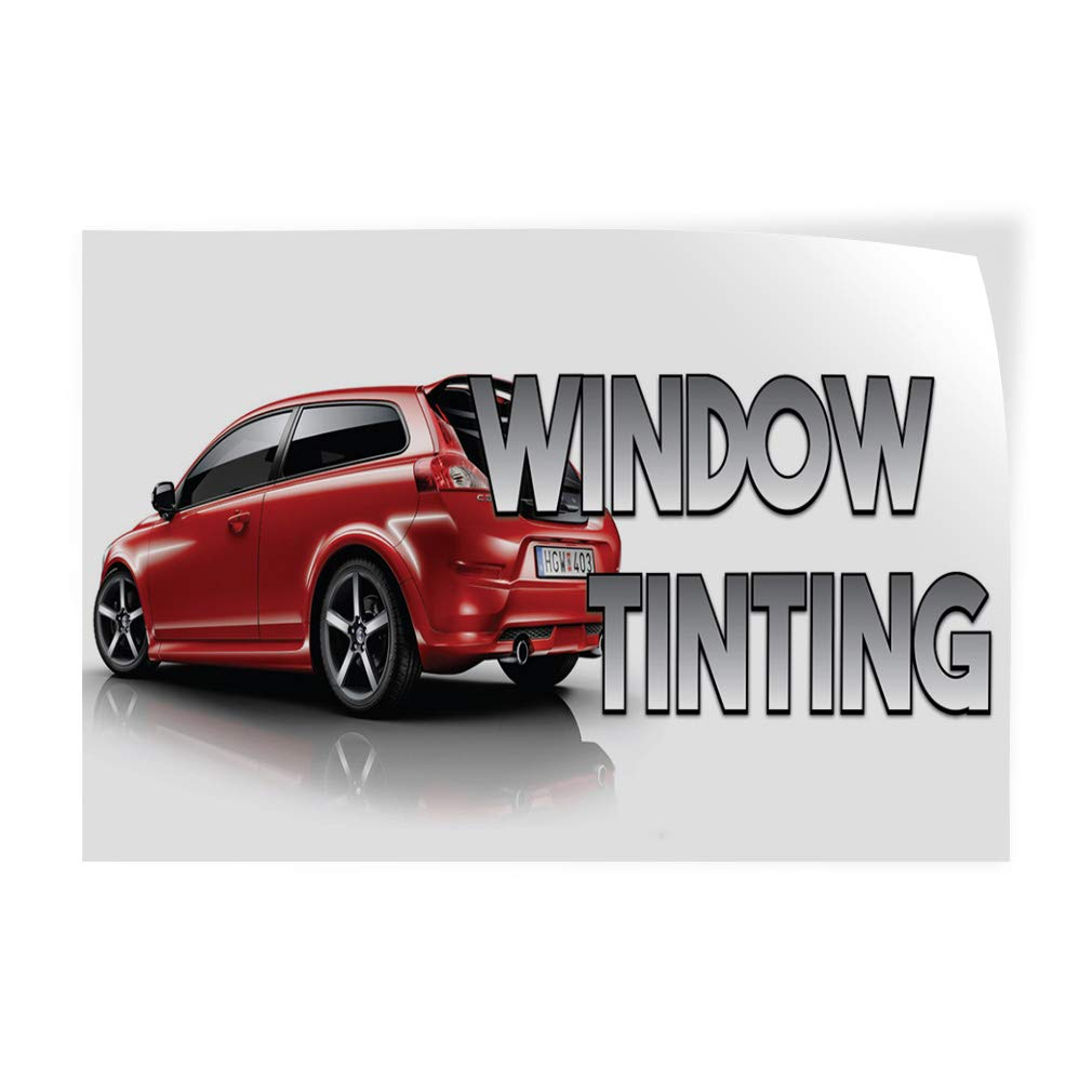 Set of 5 Decal Sticker Multiple Sizes Window Tinting Auto Car Vehicle Style A Automotive Window Tinting Outdoor Store Sign White 27inx18in