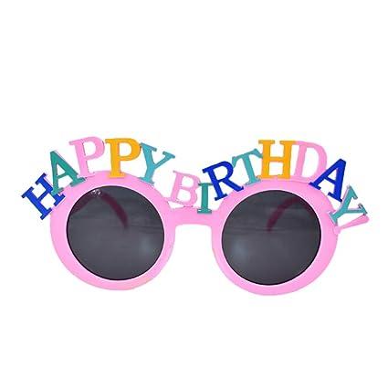 Amosfun Feliz CUMPLEAÑOS Gafas de Fiesta Cumpleaños Gafas de ...