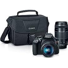 Canon EOS Rebel T6 Digital SLR Camera Kit with EF-S 18-55mm and EF 75-300mm Zoom Lenses (Black)