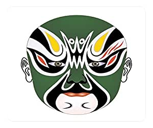 Beijing Opera Facial Masks White Rectangular Mouse Pad - Zhu Wen