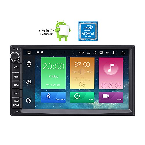 Masione Android 6.0 Car Radio Double Din with GPS Navigation 7 Inch In Dash Car Audio Stereo High Definition Video Player Touch Screen 1080P FM/AM/RDS Receiver Head Unit  Bluetooth Mirroring WiFi