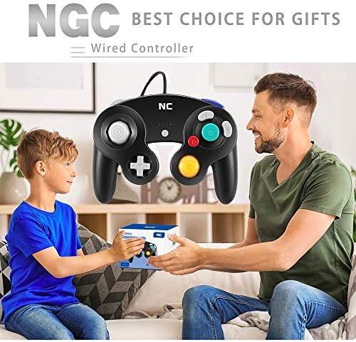 NC Gamecube Controller, adecuado para consola Wii y Nintendo Game Controller, driver con cable negro Gamepad Joystick., Juego de 1 pieza negro. 9
