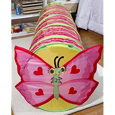 Melissa & Doug Sunny Patch Bella Butterfly Crawl-Through Tunnel (almost 5 feet long): Melissa & Doug: Toys & Games