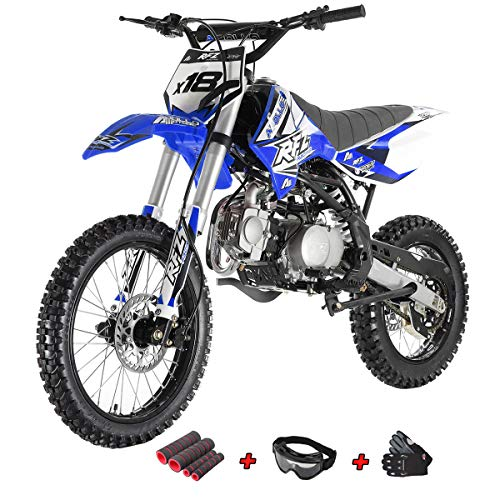 X-Pro 125cc Dirt Bike Pit Bike 125 Adult Dirt Bikes Pit Bikes Fully Assembled and Tested with Gloves, Goggle and Handgrip (Black) ()