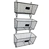 upright archival storage - ZaZaTool - Wall Mount 3 Tier Handicraft Letter Rack Key Holder Mail Storage Organizer Metal