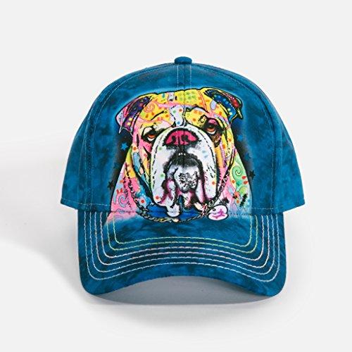 The Mountain Unisex-Adult's Colorful Bulldog Baseball Cap, Blue, Adjustable