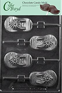 985ba04e368732 Cybrtrayd M212 Flip-Flop Lolly Chocolate Candy Mold with Exclusive  Copyrighted Molding Instructions