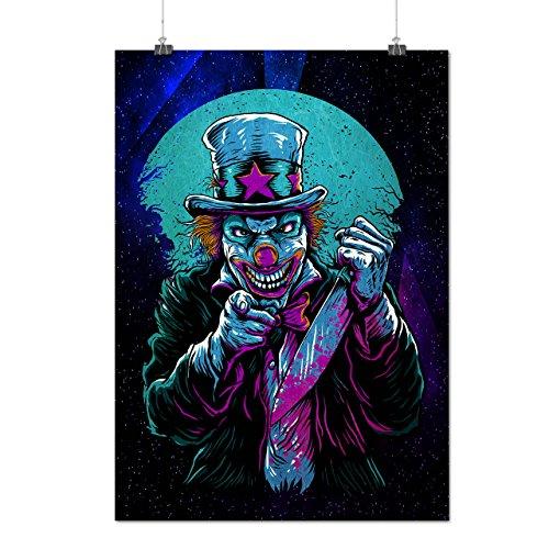 Clow Evil Scary Horror Matte/Glossy Poster A2 (60cm x 42cm) | Wellcoda