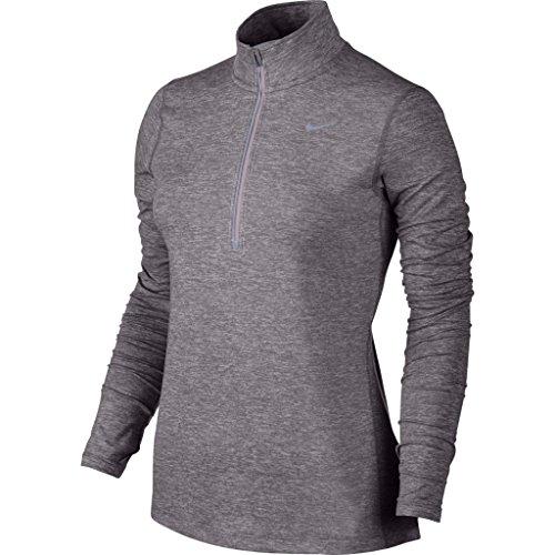 Nike Femmes Element T-Shirt semi-zippé vert Turbo Green/Night Shade/Reflective Silver XS Violett - Purple Smoke 0rmOE9D5
