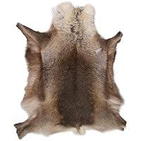 LAMBLAND Grade A Luxury Reindeer Hide/Skin / Rug in Dark Shade Natural Colors