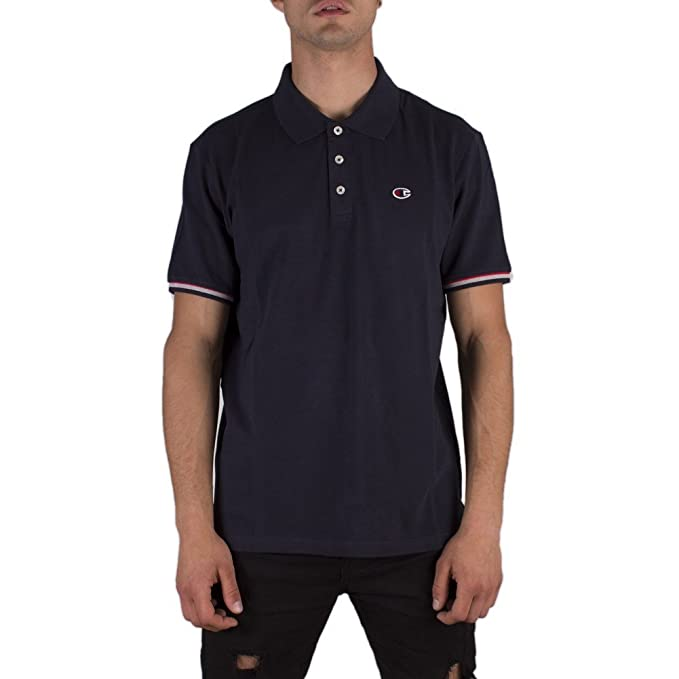 Champion Polo Confort Fit Azul Talla: S (Small): Amazon.es: Ropa y ...