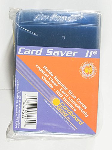 Cardboard Gold Card Saver 2 Semi-Rigid Card Holders, 100 - Semi Sport