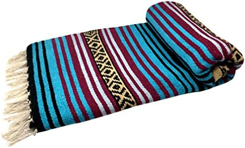 """STADIUM THROW COLORS MEXICAN FALSA BLANKET 72/"""" X 52/"""" 1ST QUALITY TWIN"""