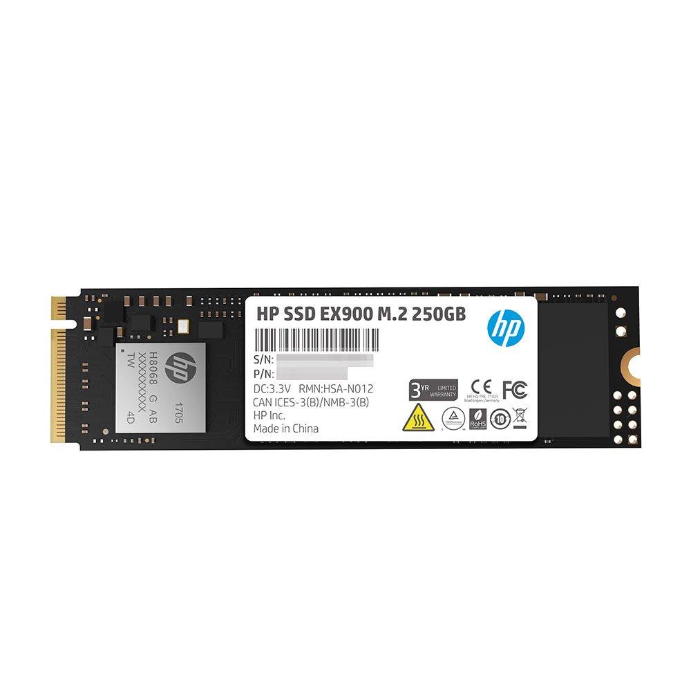 HP EX900 M.2 250GB PCIe 3.0 x4 NVMe 3D TLC NAND Internal Solid State Drive (SSD) 2YY43AA#ABC by HP