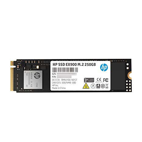 HP EX900 M 2 250GB PCIe 3 0 x4 NVMe 3D TLC NAND Internal Solid State Drive  (SSD) 2YY43AA#ABC