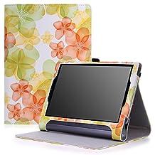 MoKo Lenovo Yoga Tab 3 Plus / Lenovo Yoga Tab 3 pro 10 Case - Slim Folding Cover Case for Lenovo Yoga Tab 3 Plus 10.1/ Lenovo YOGA Tab 3 Pro 10.1 Inch Tablet, Floral GREEN