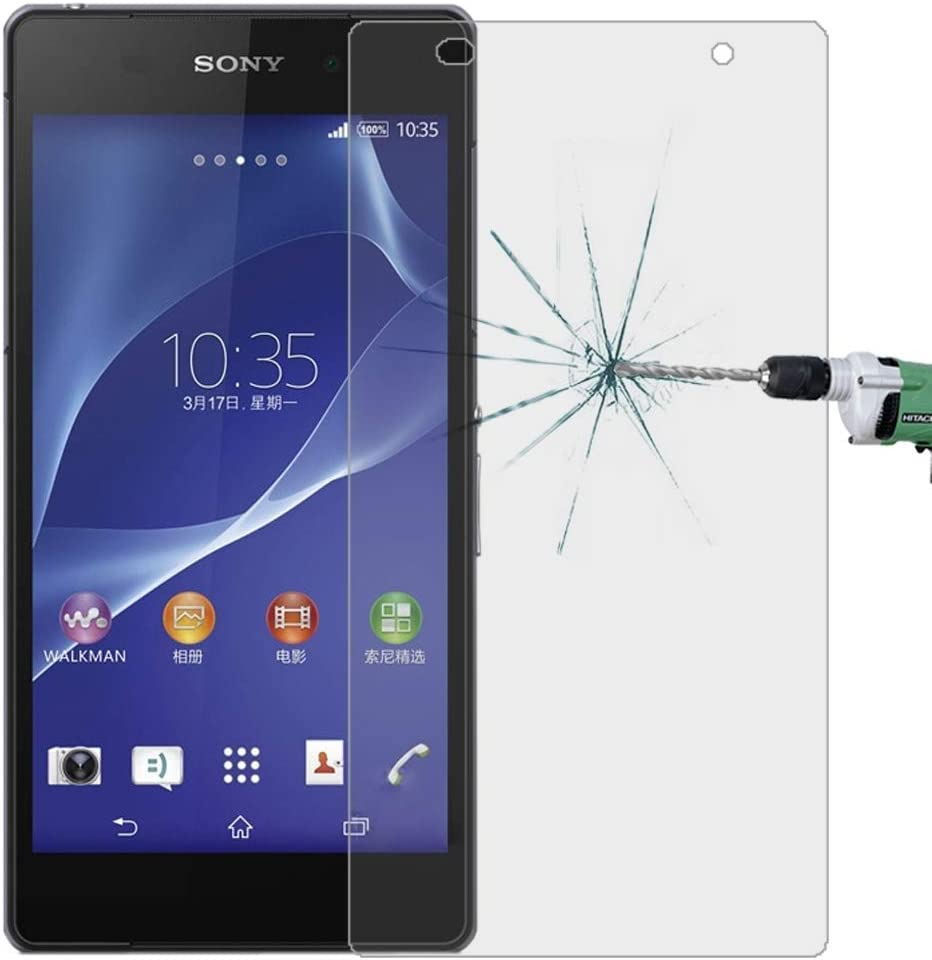 Surface Hardness 2.5D Tempered Glass Film Glass Film DESHENG Clear Screen Protector 100 PCS for Sony Xperia Z2 L50W 0.26mm 9H