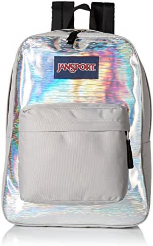 JanSport Unisex High Stakes Silver Hologram Backpack