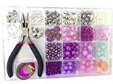 Arts & Crafts : Jewelry Making Kit- Everything included in this beginners jewelry kit. Girls and teens will love exploring their creativity. Directions and sample ideas included with this lavender bead kit.