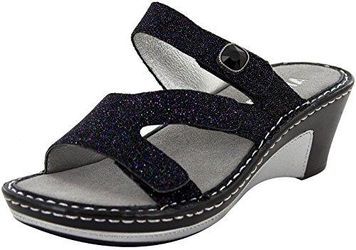 Alegria Womens Loti Wedge Sandal, Glitteroti, Size 38 EU (8-8.5 M US Women)