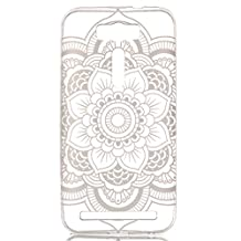 "Zenfone 2 Laser 5.5 Case, Candy House Asus Zenfone 2 Laser ZE550KL ZE551KL 5.5"" Case Coque Simple Flower Pattern Transparent Clear Ultra Slim Soft TPU Rear Back Cover Case"