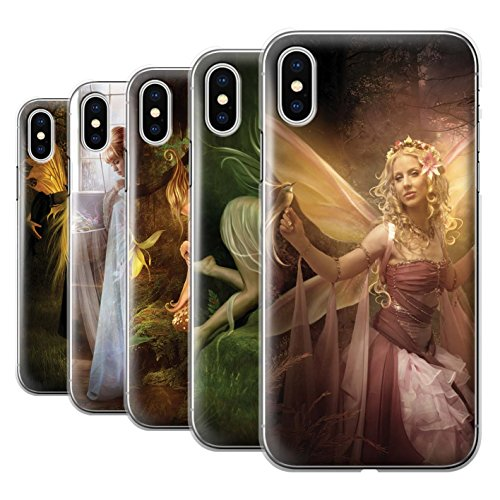 Offiziell Elena Dudina Hülle / Case für Apple iPhone X/10 / Pack 10pcs Muster / Elegante Feen Kollektion