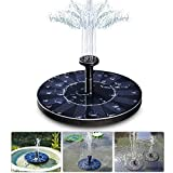 zqasales Solar Bird Bath Fountain Pump, 1.4W Free Standing Solar Fountain Water Pumps Panel Kit Outdoor Birdbath Watering Submersible Pump for Garden and Patio