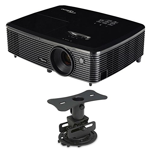 Optoma HD142X Full HD 1080p 3D DLP Home Theater Projector w/ Mustang Low Profile Mount Bundle by Optoma