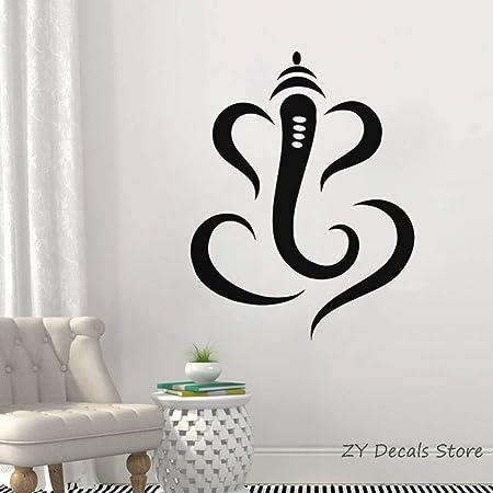 jiushivr Hindú Ganesha Lord Vinilo Tatuajes de Pared Elefante ...