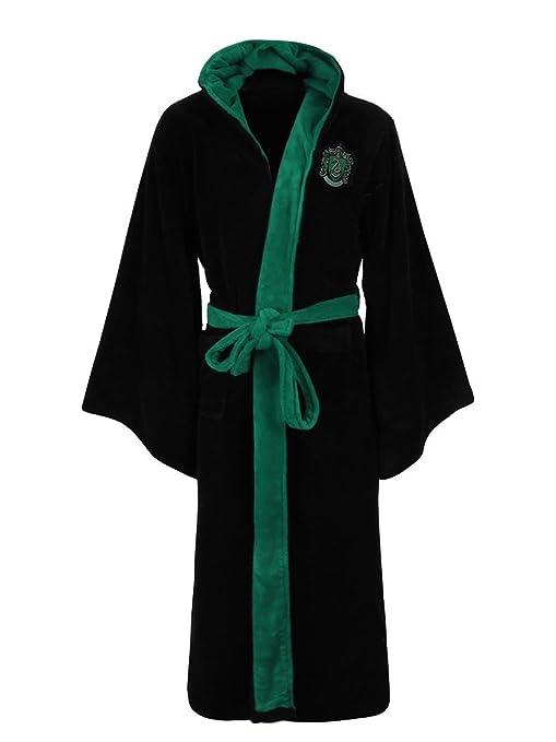 Slytherin Harry Potter Fleece Bathrobe Black Green: Amazon.co.uk ...